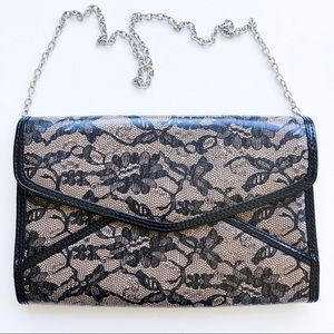 NWT Aldo Patent Lace Crossbody Clutch Handbag